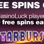 Win 1000 NetEnt free spins on Starburst at CasinoLuck