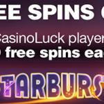 Win 1000 NetEnt free spins on Starburst at CasinoLuck