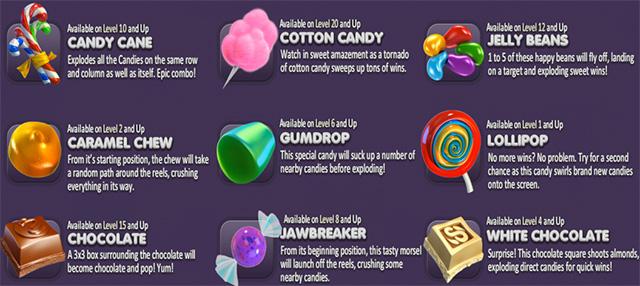 sugar pop candy crush tetris style slot live at tropezia palace