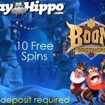 End of Year 400% Bonus + 10 No Deposit FreeSpins at PlayHippo