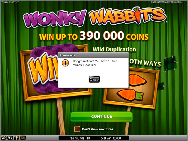 Wonky Wabbits Free Spins No Deposit Required