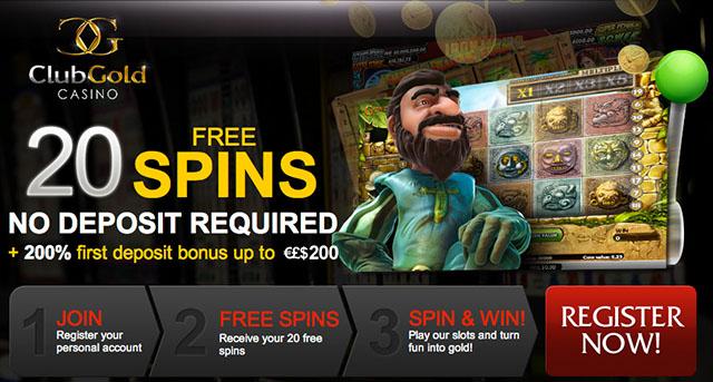 Club Gold Casino Free Spins