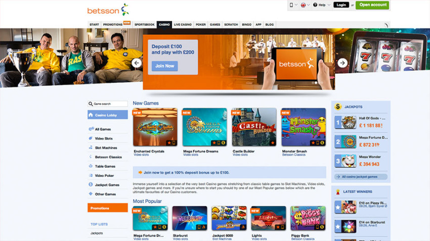 betsson casino download