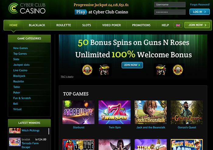 cyberclubcasino-homepage