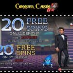 Conquer Casino November 2016 Bonus Codes now available