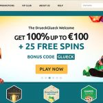 Drueck Glueck Casino | 100% up to €100 and 25 NetEnt free spins