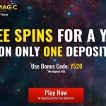 Get free spins for a whole year at SlotsMagic Casino