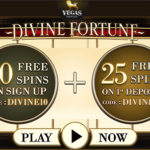 EXCLUSIVE: 10 No Deposit free spins on Divine Fortune Slot up for grabs at Vegas Paradise!!