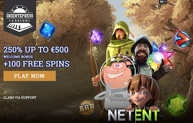 100 free spins netent