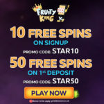 Fruity King March Free Spins No Deposit: Collect your Starburst free spins today! No Deposit Required.