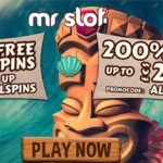 NEW MR SLOT APRIL OFFER! Get 50 No Deposit Free Spins on Aloha! Cluster Pays + 200% bonus up to €/£/$200. Special bonus codes available NOW!
