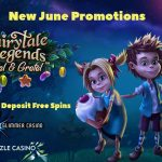 New June Promotion! Get your June No Deposit Free Spins at Glimmer Casino and Dazzle Casino now!