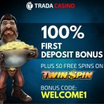 Trada Casino Welcome Free Spins Promotion: Get 50 Free Spins on the Twin Spin Slot