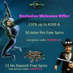 Exclusive offer at Wixstars Casino! Get 15 No Deposit Free Spins and a 150% Welcome bonus up to €200 + 30 free spins