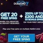 Diamond7 Casino No Deposit Free Spins Exclusive: Get 20 No Deposit Free Spins when you sign up! Get your offer now!