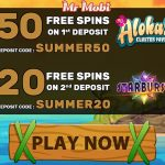 Grab your 50 Free Spins on Aloha Cluster Pays NetEnt Slot at Mr Mobi today
