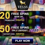 July Promotion! Vegas Paradise No Deposit Free Spins Offer: Get 20 No Deposit Free Spins on Piggy Riches this month