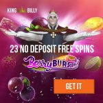 NEW OFFER! King Billy Bonus + 23 No Deposit Free Spins for all new players!