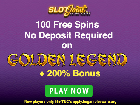 Claim an EXCLUSIVE 100 No Deposit Free Spins at SlotJoint Casino
