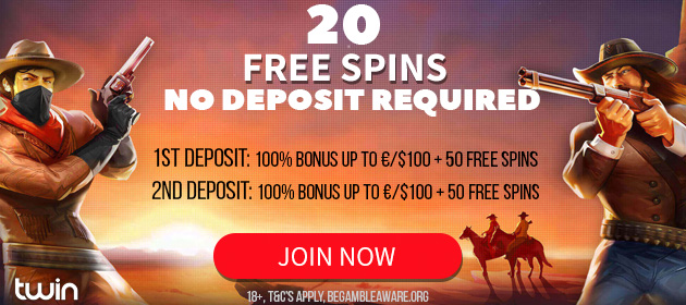 New Players Get 20 Twin Casino Free Spins After Registration